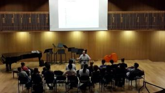 Ivan Fedele's lecture in the Israel Conservatory of Music of Tel Aviv's Concert Hall.