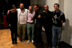 From left to right: Alejandro Vera, Diego Jiménez Tamame, Pietro Dossena, Miguel Frausto, Pedro Gómez and Mauricio Arias