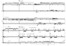 "About blood pulse and misty minds (10'30"") for Meitar Ensemble. Flute (Piccolo), Clarinet in Bb (Bass Clarinet in Bb), Piano, Violin, Viola and Violoncello. 2013."